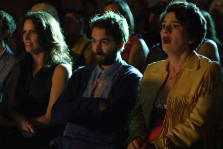 Frame of the Transparent series in which the kids see a performance of their transgender mother.