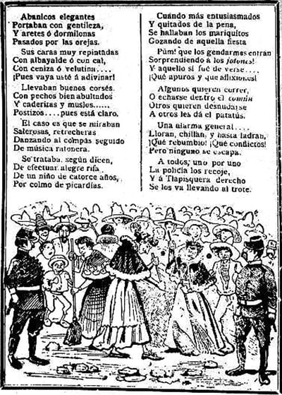 The second image of the Forty-one entry, is the next page of the publication where the story of what happened in the dance ends
