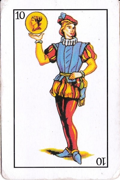 Playing card Sota de Oros, which could be the origin of Joto