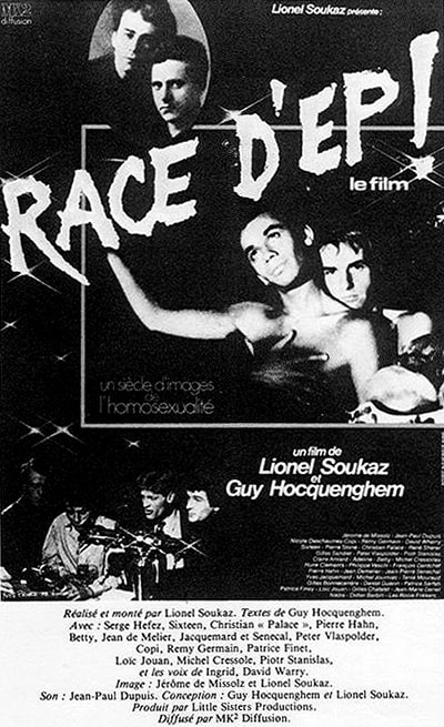 Poster of the Film Race D'ep, which gave rise to the slang, Rasdep. Black and white photography.
