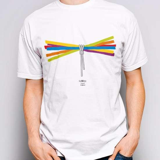 Camiseta original, color blanco, diseño Faggot