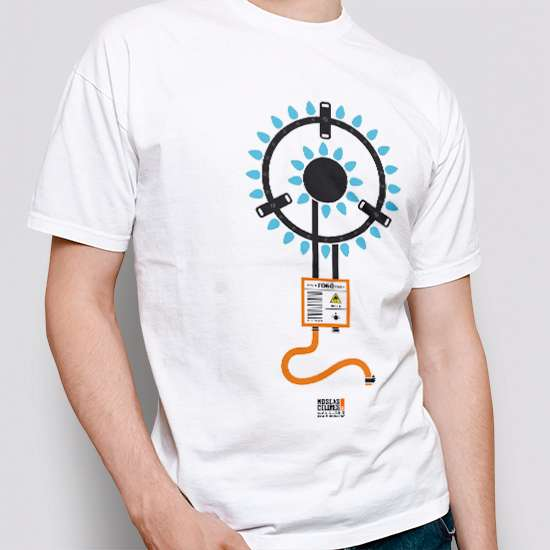 Camiseta original, color blanco, diseño Fogó