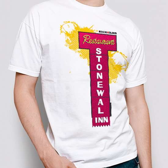 Camiseta Reivindicativa, color blanco, diseño Stonewall