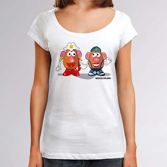 Funny t-shirt, white color, design Le Patate