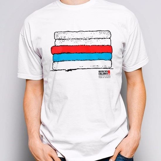 Gay Shirt, white color, design Peškir