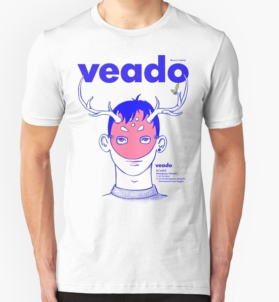 Gay Shirt, white color, design Veado