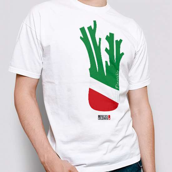 Pride clothing, white color, design Finocchio Flag