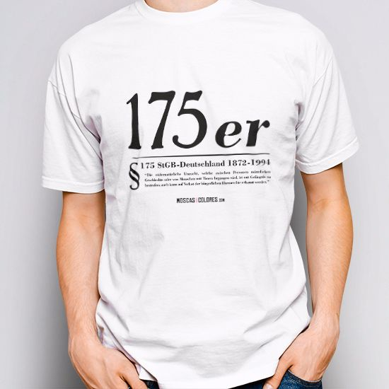 Pride clothing, white color, design Paragraph 175