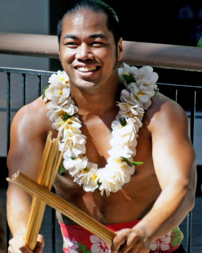 An attractive Hawaiian man illustrates our Hawaiian Gay Dictionary